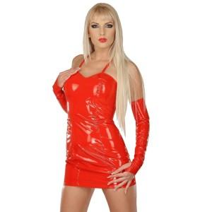 ledapol 1099 lakk mini kjole - vinyl korte kjol fetish