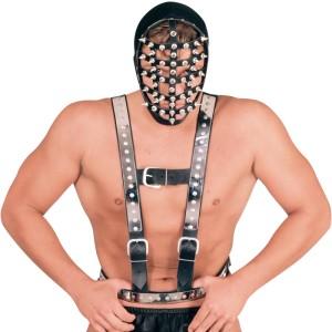 ledapol 5014 sm herre bryst seletøy i lær - gay harness