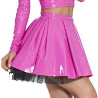 insistline 9204 fetish mini skirt - datex short pleated skirt