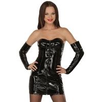 ledapol 1008 lakk mini kjole - korte vinyl kjol fetish