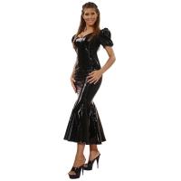 ledapol 1052 lakk kjole - vinyl lange kjol fetish