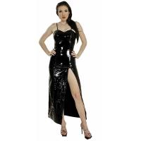 ledapol 1077 lakk kjole - vinyl lange kjol fetish