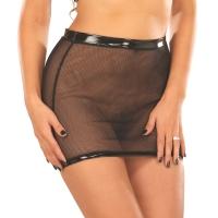 ledapol 1095 sexy netting mini skjørt - kvinners skjørt