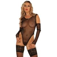 ledapol 1097 netting undertøy - kvinners nettingbody - sexy lingerie
