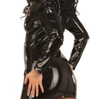 ledapol 1191 lakk mini kjole - korte vinyl kjol fetish