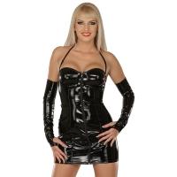 ledapol 1193 lakk mini kjole - korte vinyl kjol fetish
