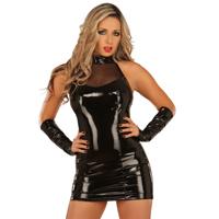 ledapol 1277 lakk mini kjole - vinyl korte kjol fetish