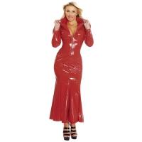 ledapol 1389 lakk kjole - vinyl lange kjol fetish