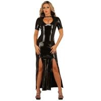 ledapol 1446 lakk kjole - vinyl lange kjol fetish
