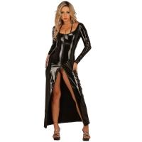 ledapol 1449 lakk kjole - vinyl lange kjol fetish