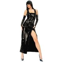ledapol 1455 lakk kjole - vinyl lange kjol fetish