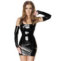 ledapol 1460 lakk mini kjole - vinyl korte kjol fetish