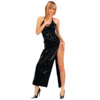 ledapol 1473 lakk kjole - vinyl lange kjol fetish