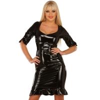 ledapol 1483 lakk mini kjole - korte vinyl kjol fetish