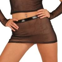 ledapol 1584 sexy netting mini skjørt - kvinners skjørt