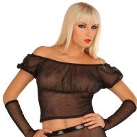 ledapol 1586 netting bluse - kvinners bluse sexy