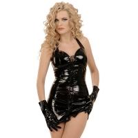 ledapol 1605 lakk mini kjole - korte vinyl kjol fetish