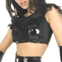 ledapol 1646 lakk bluse - vinyl bluse