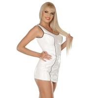 ledapol 1666 lakk mini kjole - korte vinyl kjol fetish