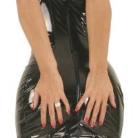 ledapol 1686 lakk mini kjole - korte vinyl kjol fetish