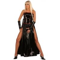 ledapol 1731 lakk kjole - vinyl lange kjol fetish