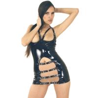 ledapol 1765 lakk mini kjole - korte vinyl kjol fetish