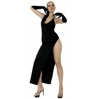 ledapol 3005 stretch kjole - stoffer lange kjol fetish