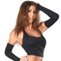 ledapol 3015 stoffer stretch bustier - kvinners bluse sexy