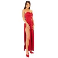 ledapol 3067 lange kjoler - satin kjoler - fetish korsettkjoler