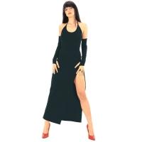 ledapol 3068 stretch kjole - stoffer lange kjol fetish