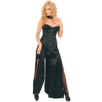 ledapol 3069 lange kjoler - satin kjoler - fetish korsettkjoler