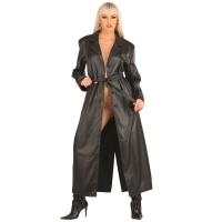 ledapol 5181 lær frakk - kvinners frakk