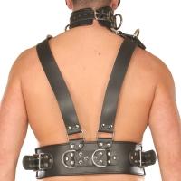 ledapol 8043 sm herre bryst seletøy i lær - gay harness