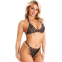 ledapol 986 + 987 lær brystholder + slip - 2 stk som sett - sexy lingerie
